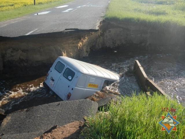 Авто РЭС провалился в Ельском районе