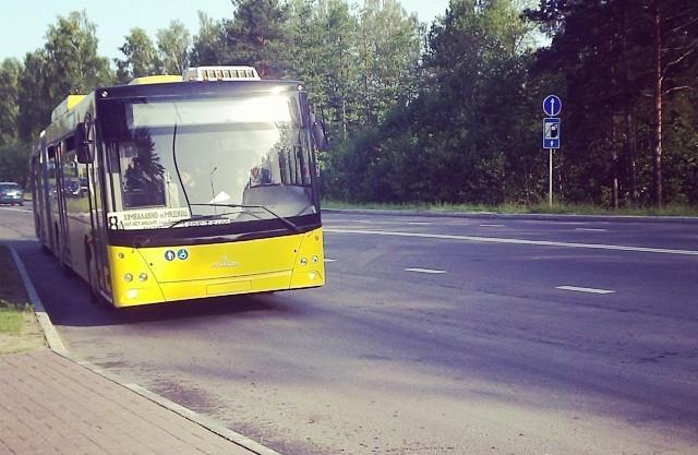Новый автобус в гармошка АП5