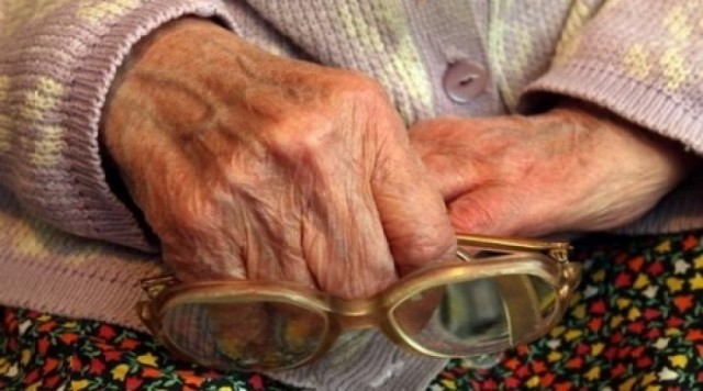 Пенсионерка, очки