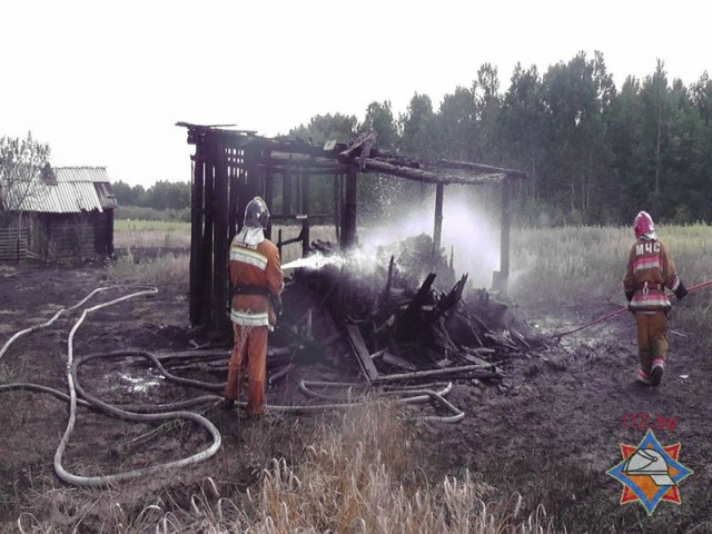 Пожар в Михайловке 02.08.2014