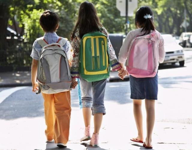 Ребёнок, рюкзак, школа, дети