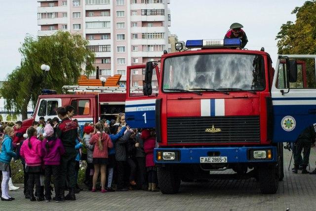пожарная машина, автомобиль, маз
