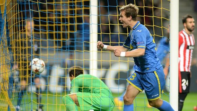 БАТЭ победил Атлетик 30.09.2014 в Борисов-Арене