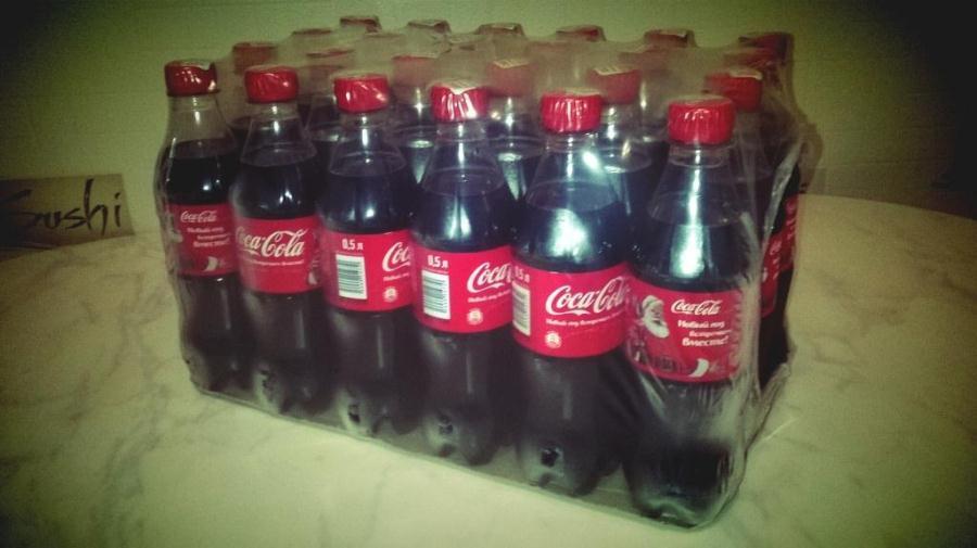 Ящик кока-колы, напиток, приз