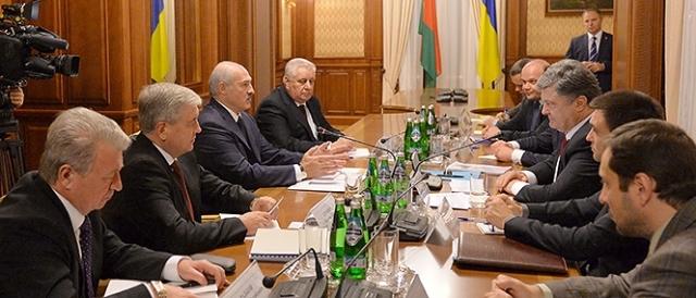 Лукашенко, Порошенко, визит президента Беларуси в Украину, 21.12.2014