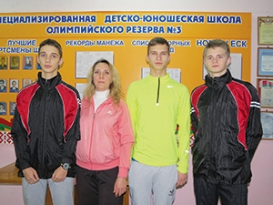 тренер Л.Бандура с воспитанниками СДЮШОР-3