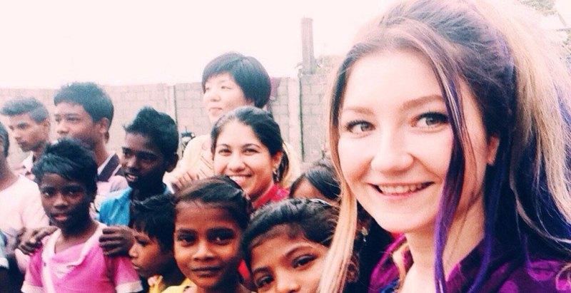 Анита Куркач в Индии 2014, волонтёр, человек, девушка