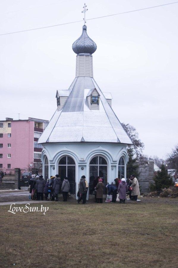 Крещенские морозы в Паричах 19.01.2015 11