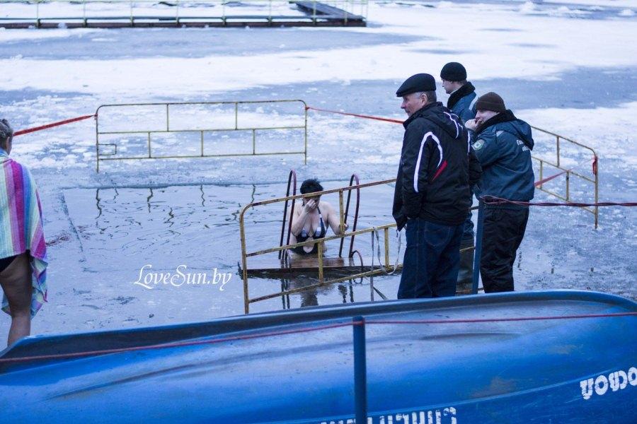 Крещенские морозы в Паричах 19.01.2015 14