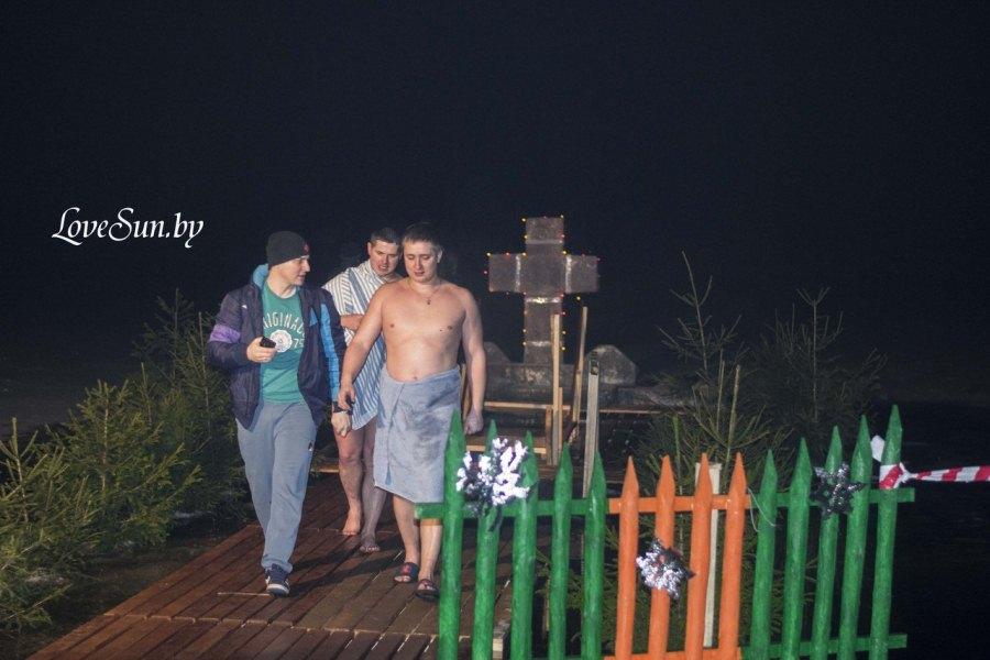 Крещенские морозы в Паричах 19.01.2015 17