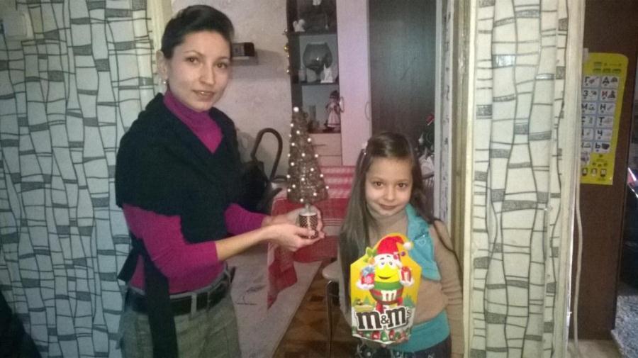 Наталья Белягина. Вручение приза m&m's, кофе-елка 7.01.2015