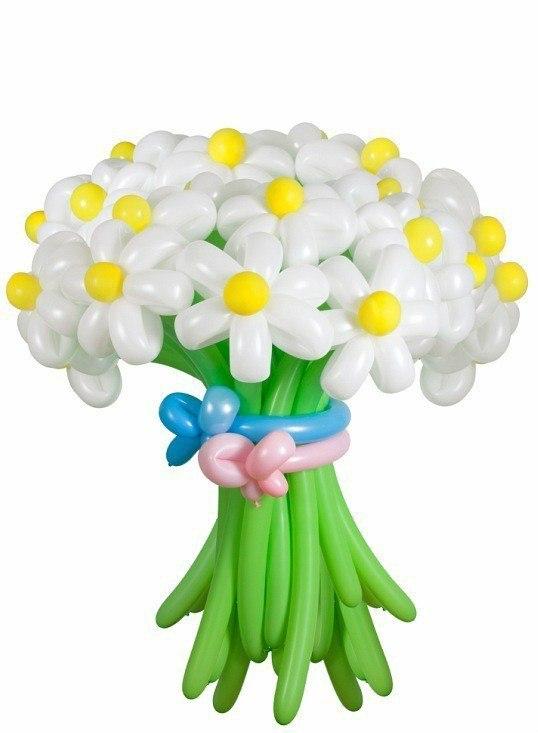 надувные ромашки, цветы