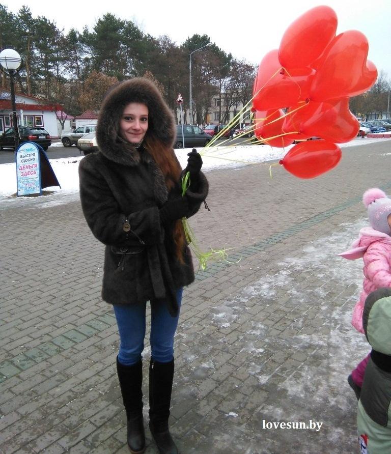 Яна Головко, девушка, гелиевые сердца 1