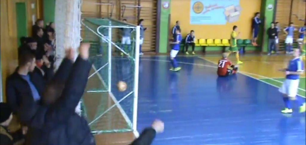 Матч ЦКК-БЧ, мини-футбол, 28.02.2015 гол Лебедева