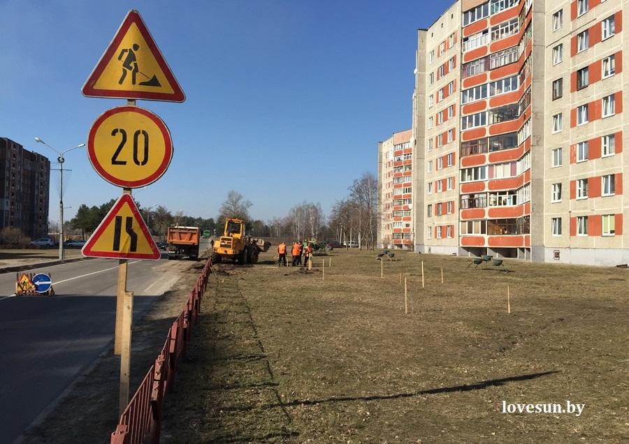 строительство остановки на шестом мкрн, 10.03.2015