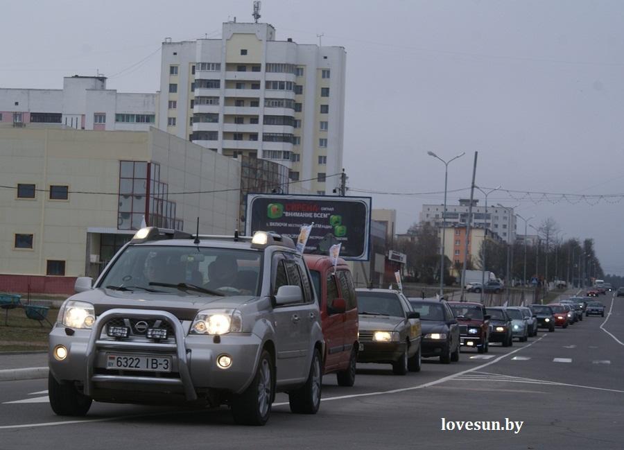 2014.04.04 благотворительная акция светлогорского автоканала , колонна, ниссан