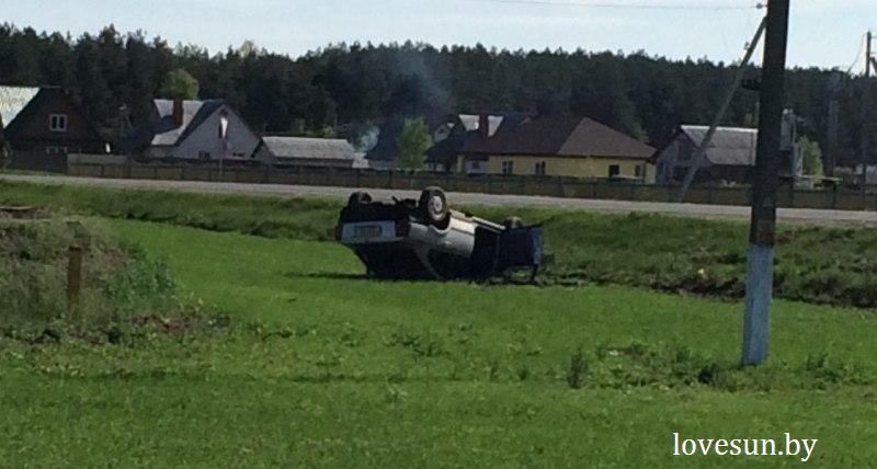 автомобиль перевернулся в Чирковичах