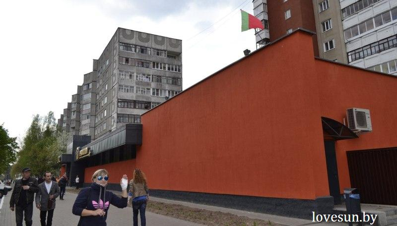 флаг Беларуси на Евроопте