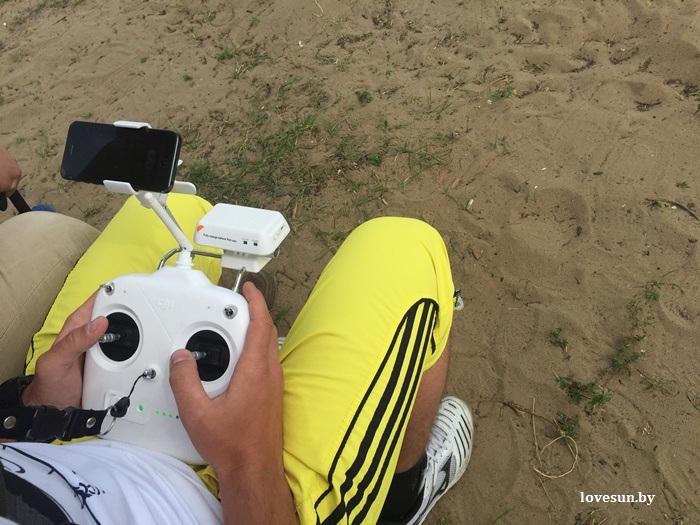 квадрокопер на пляже день молодёжи 2015