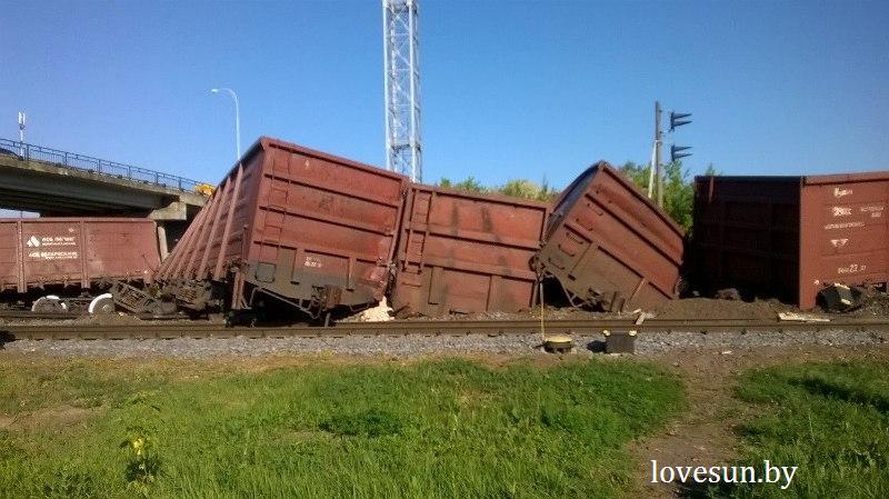 вагоны сошли с рельс Светлогорск2