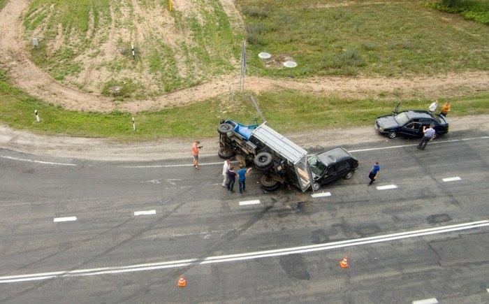 ДТП на сосновоборском перекрёстке грузовик 2