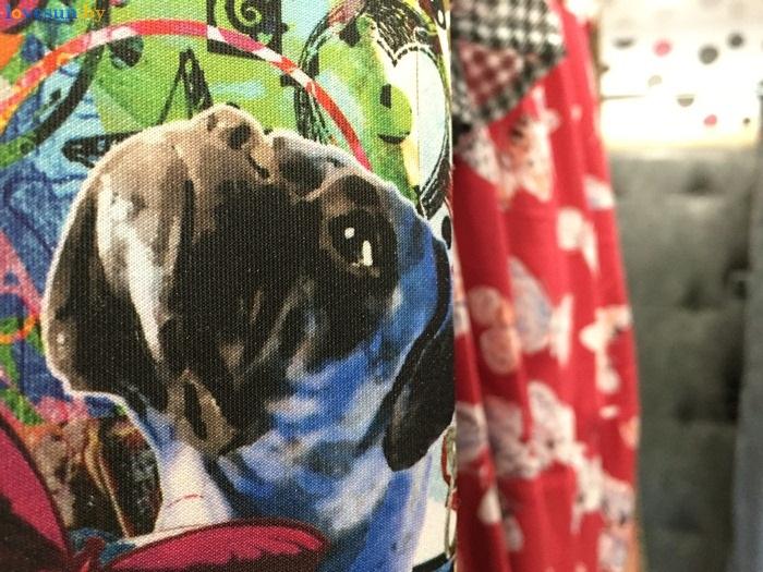 магазин одежды secon hand Бренд Микс собака на платье - копия