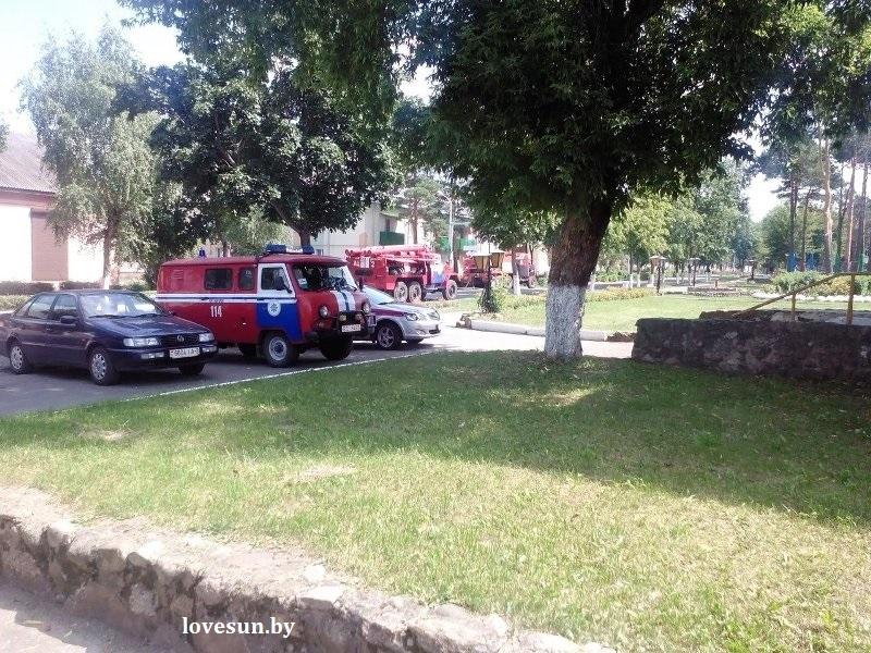 пожар в Сосновом Бору