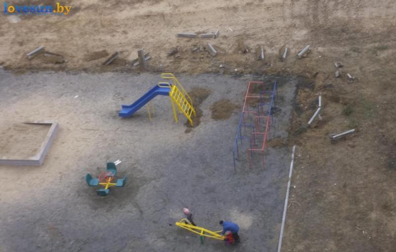 шоссейная улица детская площадка