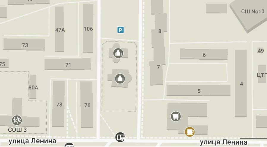 карта расположения общежитие