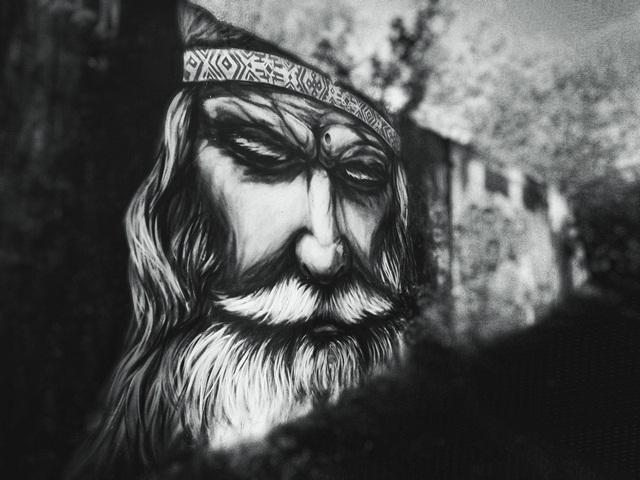Снято на телефон сюжет виталия Светлогорск граффити дед