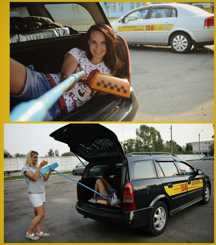 фотография марины михальченко такси швабра селфи