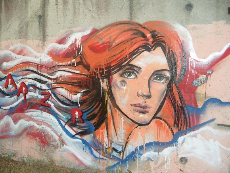 графити в Светлогорске девушка