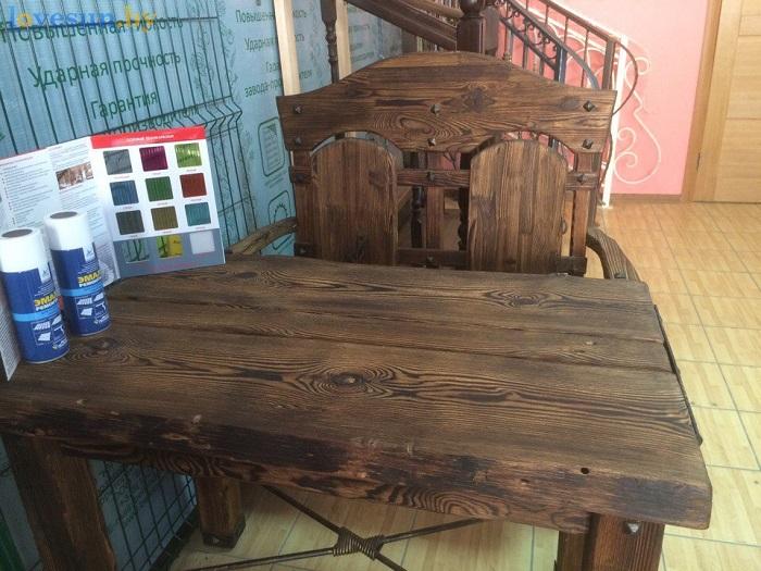 магазин дворик стол деревянный