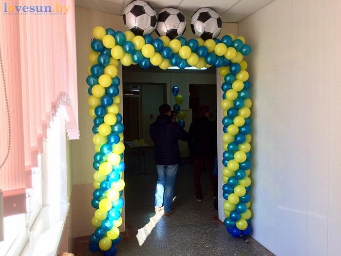 otkryitie-detskoy-futbolnoy-shkolyi-yunior-16-10-2016-prazdnichnyiy-vhod-shariki-myach