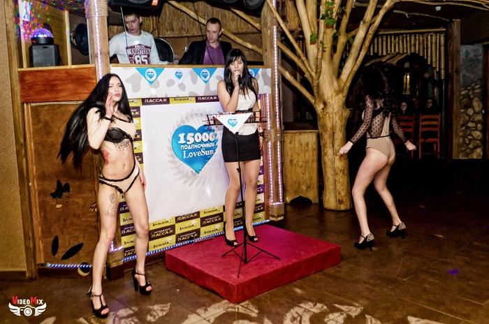 вечеринка (дискотека) в честь 15 000 подписчиков певица натали танцы, гоу гоу девушки hot ladies show