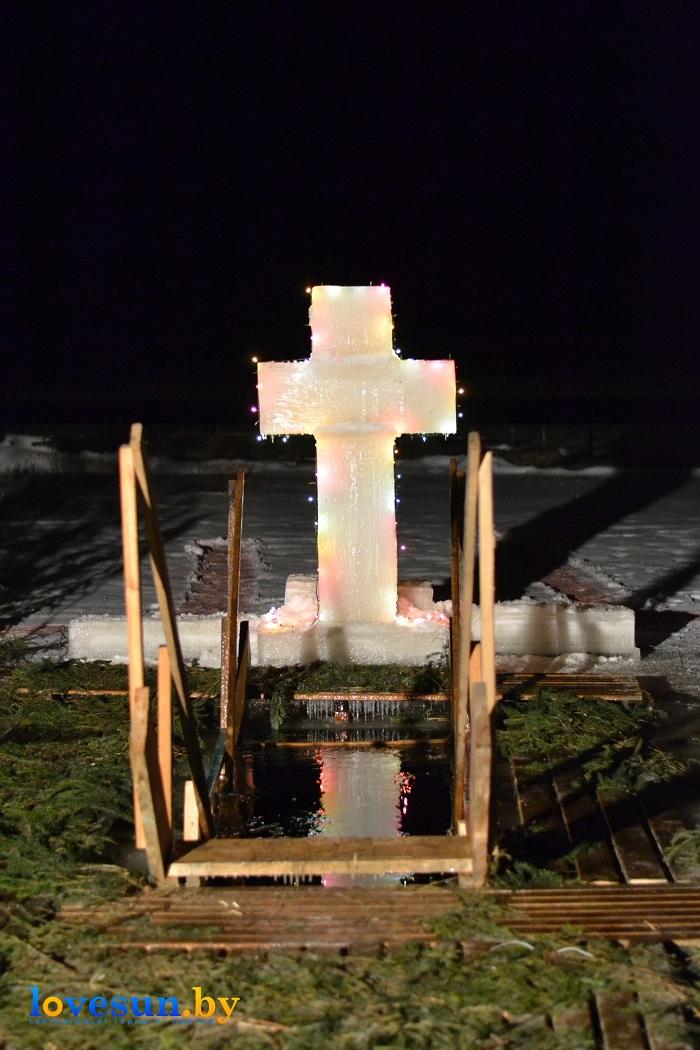 Крещенские морозы купания 2017 ночь река крест 2