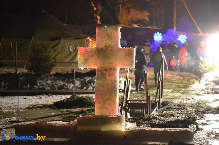 Крещенские морозы купания 2017 ночь река крест 3