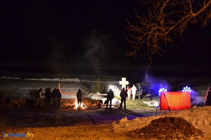 Крещенские морозы купания 2017 ночь река крест