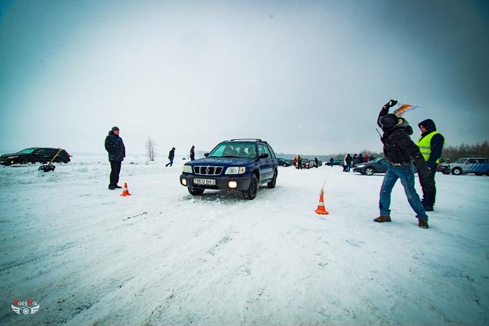 авто горячий лёд 2017 снег старт субару