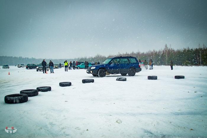 авто горячий лёд 2017 снег субару форестер 3