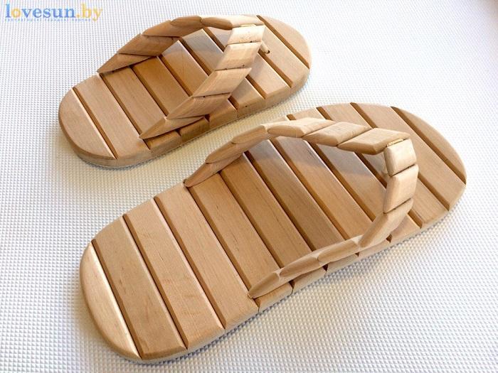 деревянные шлёпанцы для бани 36 и 45 размеры