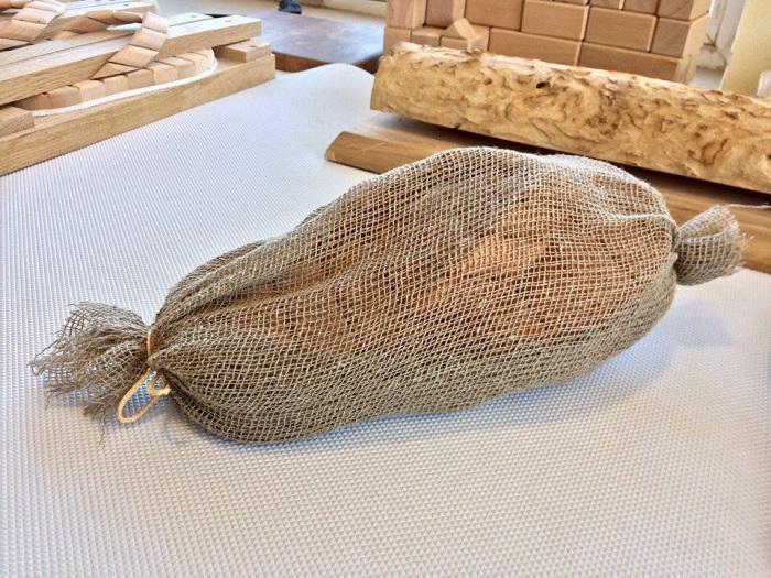 деревянные шлёпанцы для бани в упаковке