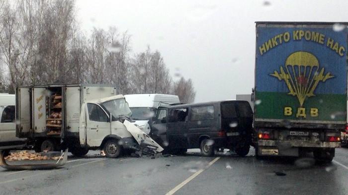 ДТП под брянском никто кроме нас газель микроавтобус грузовик авария