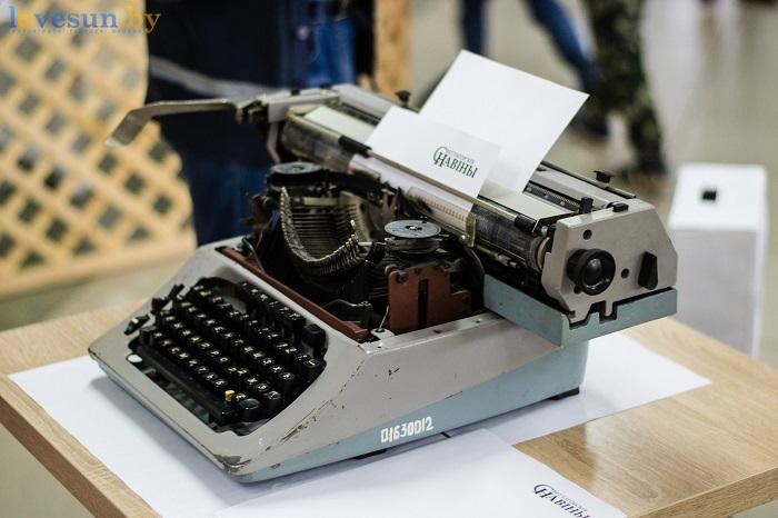 газете светалгорския навины 85 лет 2017 печатная машинка