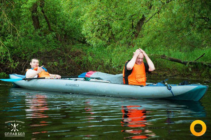 сплав на байдарках люди лодки река 16