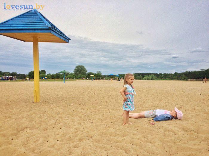 День молодёжи 24.06.2017 пляж песок дети маруся и кира
