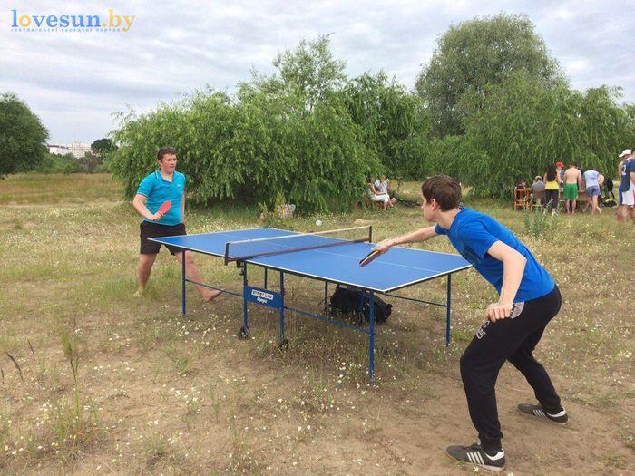 День молодёжи 24.06.2017 пляж песок настольный теннис