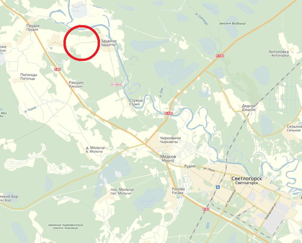 карта план схема светлогорского района здудичи судовица (1)