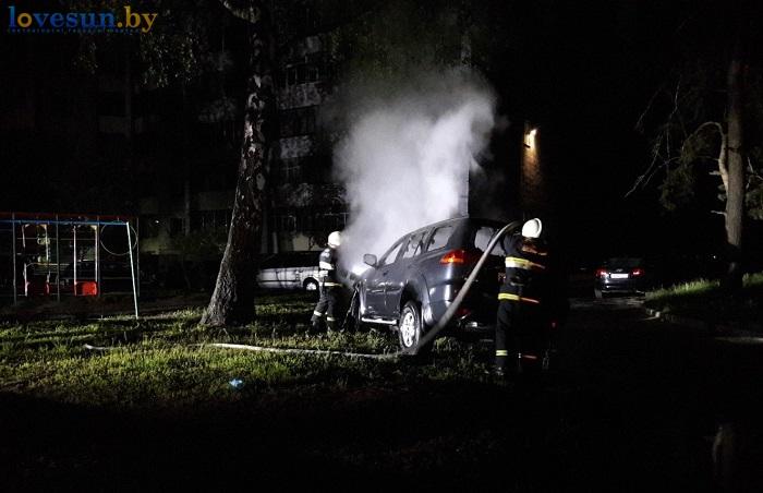 возгорание автомобиля в первомайском мчс пожар