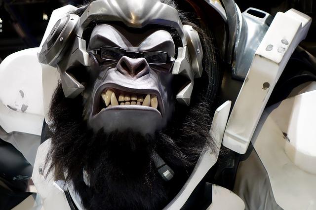 overwatch-животное обезьяна хакер в наушниках сзлой